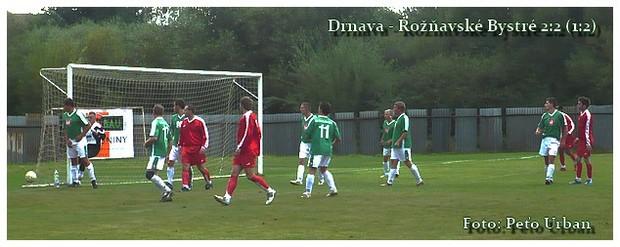 Drnava - Rožňavské Bystré 2:2. Foto: Peťo Urban