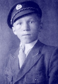 Ladislav Tomko ako študent Baťovej školy práce. Foto: archív L.T.